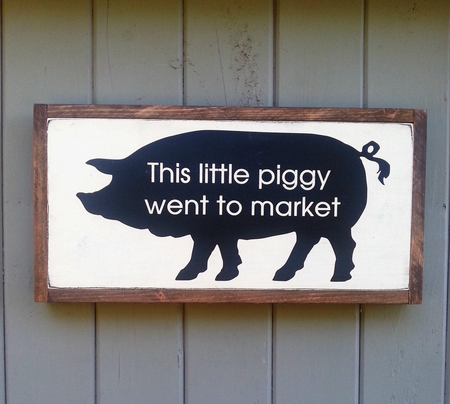 This Little Piggy Went To Market Framed Farm House Sign