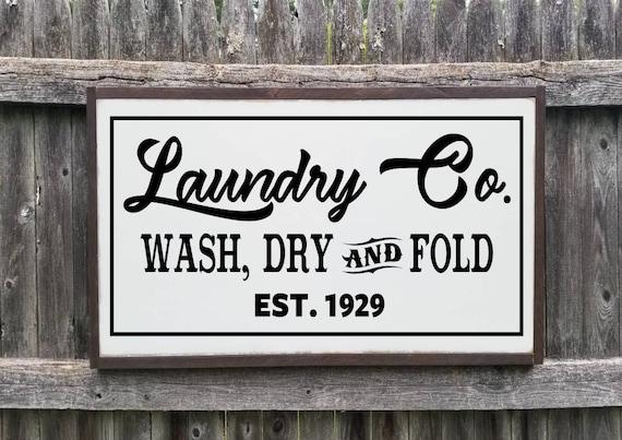 Laundry Co Wooden Sign, 17 x 35, Farmhouse Décor, Fixer Upper, Home Décor, Rustic, Laundry sign, Laundry Room Sign, Laundry Decor, Primitive