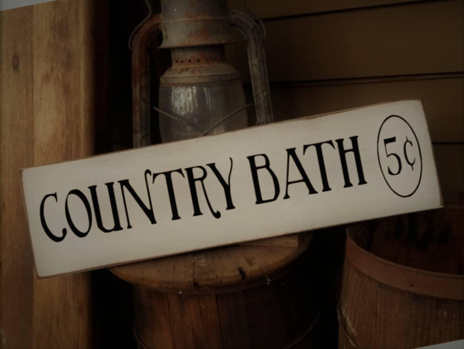 Farmhouse Decor Rustic Bathroom Decor Wooden Sign