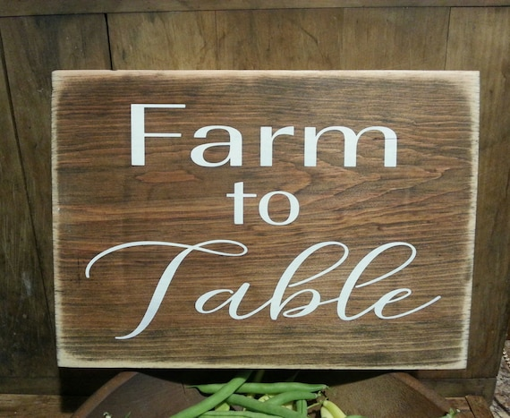 Farmhouse Kitchen Decor, Farm to Table Wooden Sign,  Farmhouse Decor, Rustic Decor, Kitchen Decor, Shabby Chic, White, Primitive, Farm Sign