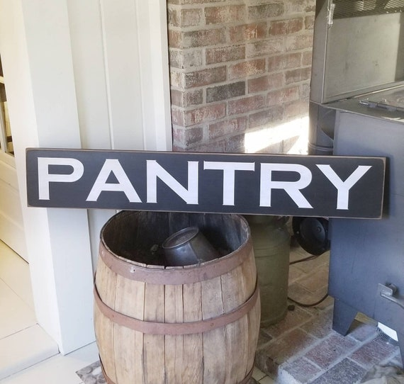 PANTRY Large Wooden Sign, Farmhouse Décor, Fixer Upper, Home Décor, Rustic, Pantry sign, Primitives, Primitive Wood Sign, Pantry Wood Sign