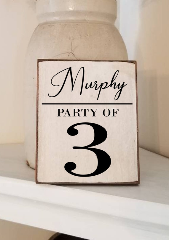 Party of Sign - Family Name Sign - Personalized Sign - Farmhouse Decor - Number Sign - Farmhouse Sign -Family Number Sign - Anniversary Gift