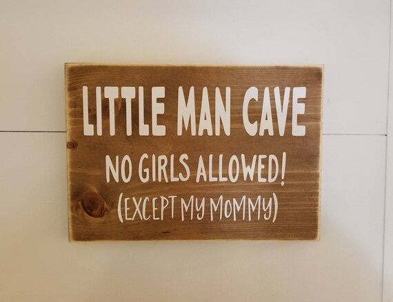 Little Man Sign - Little Man Cave - Farmhouse Decor - Rustic Decor - Home Décor, Bedroom Decor - Boys Room - Boys Bedroom Decor -Baby Shower