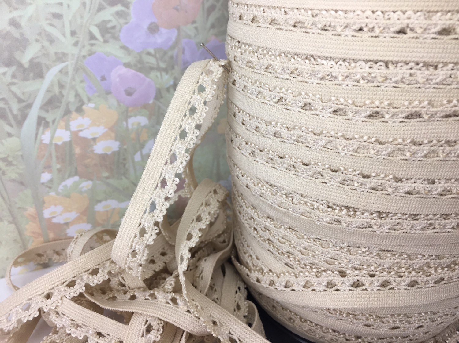 """5Yds White Stretchy Floral Lace Trim DIY Sewing Dress Lingerie Craft 1 1//2/"""""""