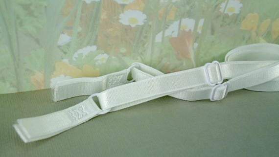 2 Bra Straps Elastic Adjustable White