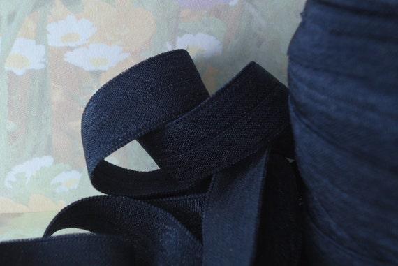 5yd Light Green Elastic Fold Over Ribbon Trim diy baby Headband hair ties FOE ribbon wand streamers bra making lingerie Stretch bias tape