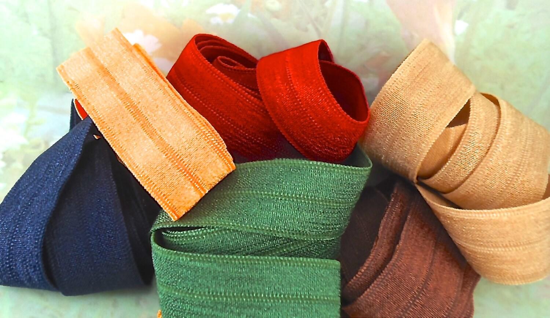 Fold over Elastic Ribbon Multi Sets Diy Hair Ties 2 ft ...