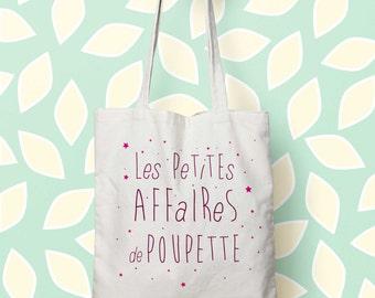 Tote bag personnalized, Little things of…PINK - bag canvas tote bag Kids Name Tote, nappy bag, bag market, handbag, Toddler bags