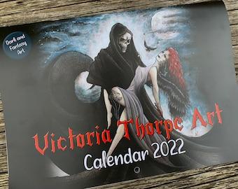 Victoria Thorpe Art Calendar - Fantasy and Dark Art 2022