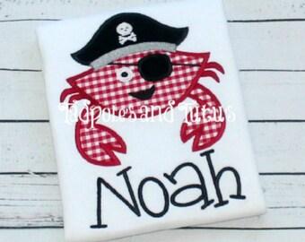 pirate crab shirt etsy