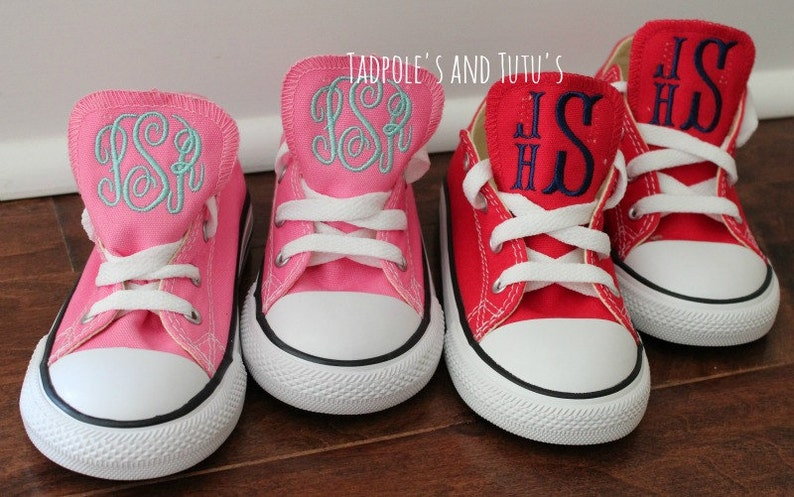 b18e0557acd5e Monogrammed Chuck Taylor Classic Converse Shoes - Toddler & Youth, Monogram  Kid Shoes, Personalized Converse Shoes, Shoes with Embroidery