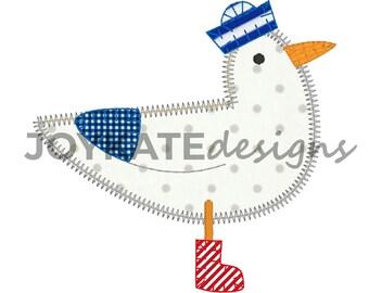 Boys SAMPLE SALE- Sea Gulls Tshirt, Tee, Shirt, Bodysuit, Bubble OR Romper, Nautical Seagull Applique Shirt,  Bird Outfit, Sea Gull Applique