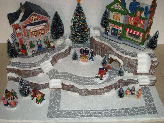 Christmas Village Display Platforms.Village Display Platform Base J21 Large Dept56 Lemax Dickens Snow Village Cic More