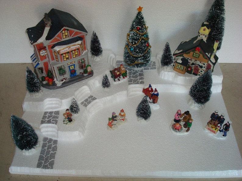 Christmas Village Display Platforms.Village Display Base Platform J19 Large Dept56 Lemax Dickens Snow Village Cic
