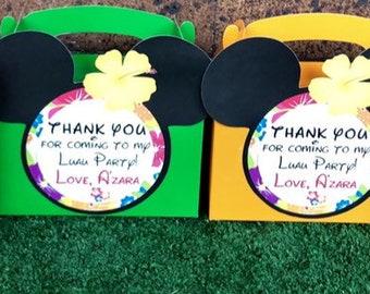Minnie Mouse Luau Favor Boxes