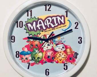 Personalized Shopkins Wall Clock