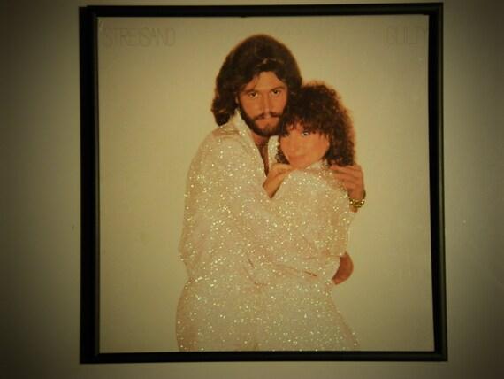 Glittered Record Album - Barbra Streisand w/ Barry Gibb - Guilty