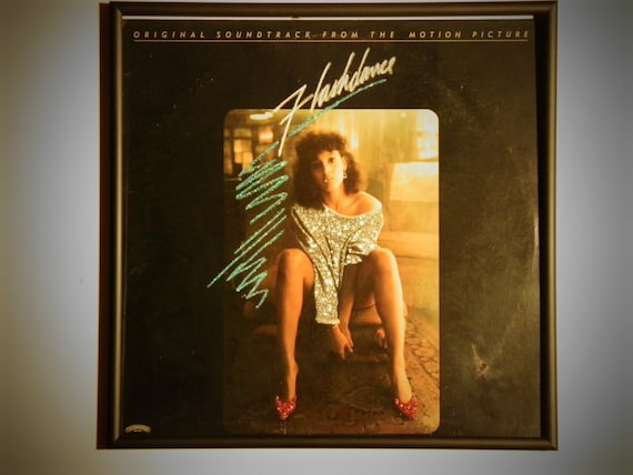 Glittered Record Album - Flashdance Soundtrack