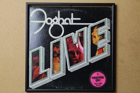 Glittered Record Album - Foghat - Live