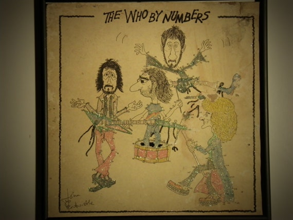 Glittered Record Album - The Who - By Numbers