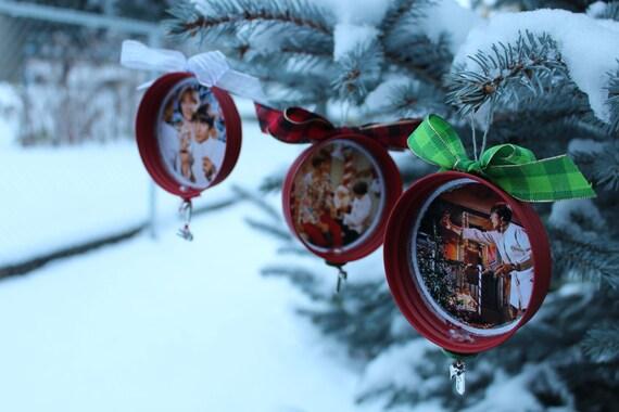 "Davy Jones Equine Memorial Foundation SET OF 3 ""Davy Jones and Peter Tork Monkees"" Christmas Ornaments"
