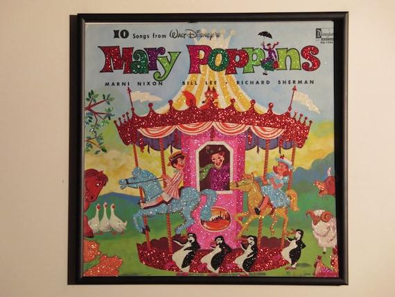 Glittered Record Album - Walt Disney - Mary Poppins