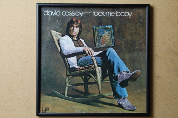 Glittered Record Album - David Cassidy - rock me baby