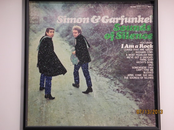 Glittered Record Album - Simon and Garfunkel - Sounds of Silence