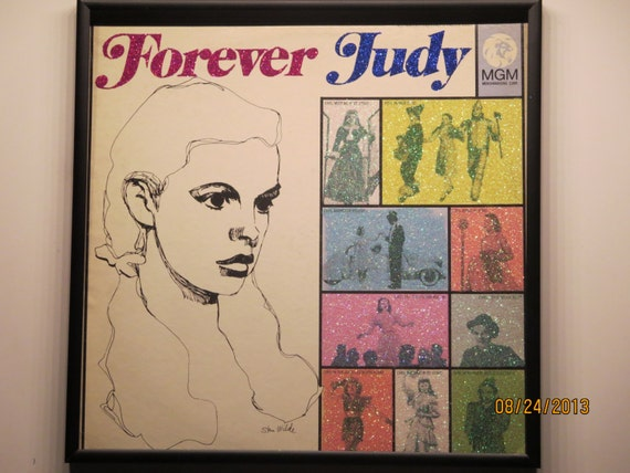 Glittered Record Album - Judy Garland - Forever Judy