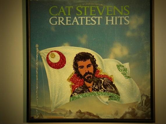 Glittered Record Album - Cat Stevens