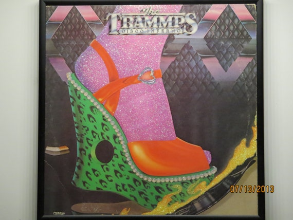 Glittered Record Album - The Trammps - Disco Inferno
