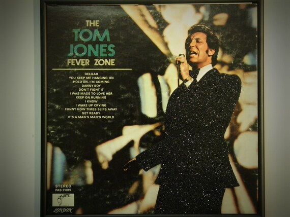 Glittered Record Album - Tom Jones