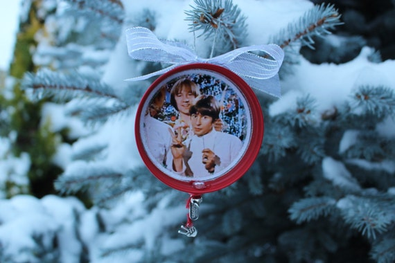 "Davy Jones Equine Memorial Foundation ""Davy Jones and Peter Tork Monkees Peace Sign"" Christmas Ornament"