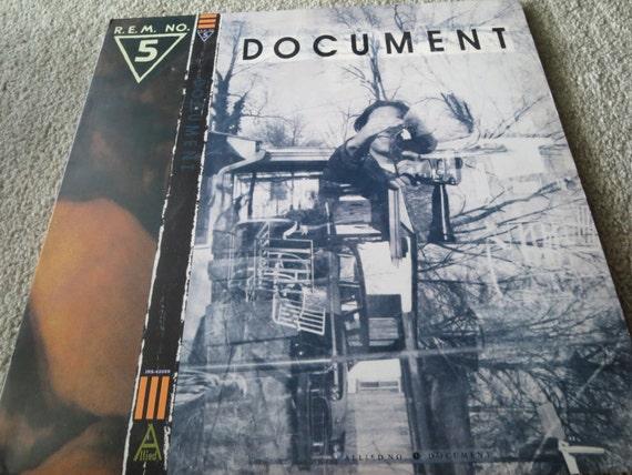 David Jones Personal Collection Record Album - R.E.M. NO. 5 - Document