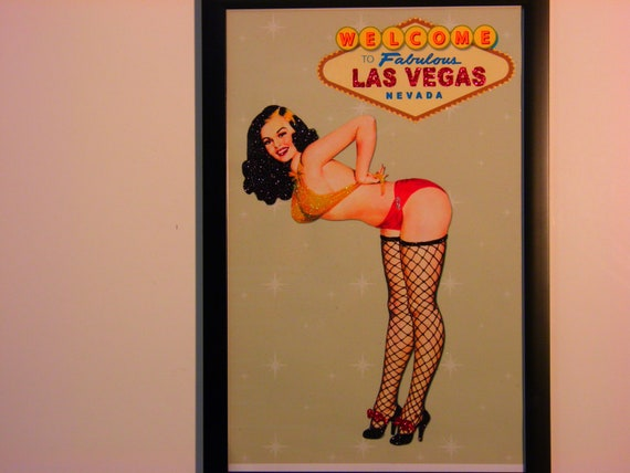 Glittered Poster - Welcome to Fabulous Las Vegas Nevada