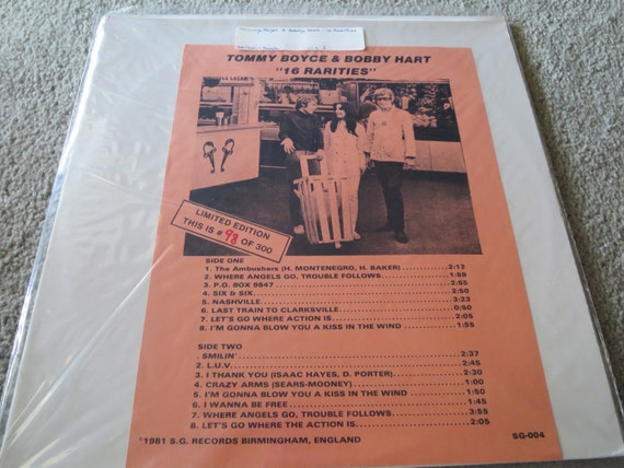 David Jones Personal Collection Record Album - Limited Edition Tommy Boyce & Bobby Hart - 16 Rarities