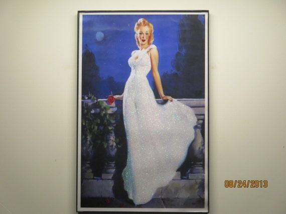 Glittered Poster - Moonlight