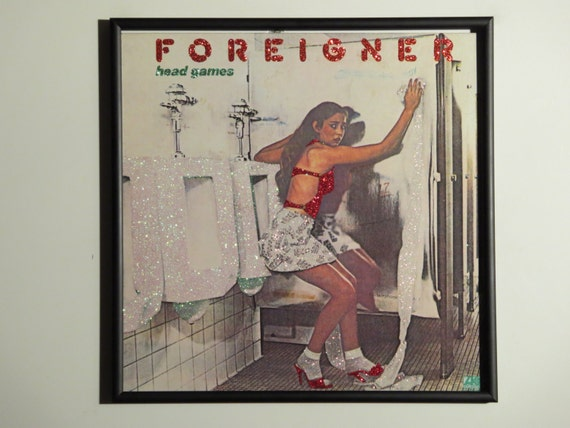 Glittered Record Album - Foreigner - Head Games