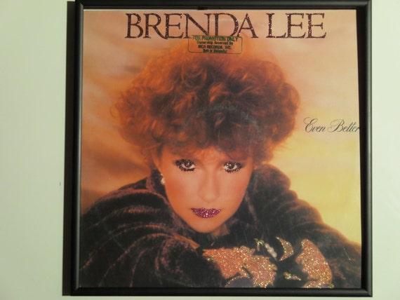 Glittered Record Album - Brenda Lee - Even Better - Autographed
