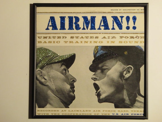 Glittered Record Album - United States Air Force Basic Training In Sound  - Airman