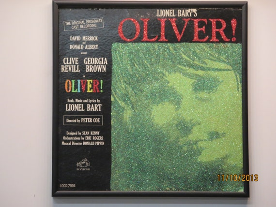Glittered Record Album - Oliver! - Soundtrack