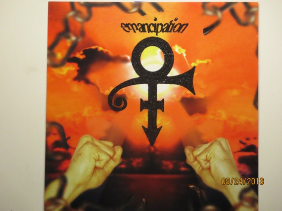 Glittered Poster - The Artist Formally Known as Prince - Emancipation