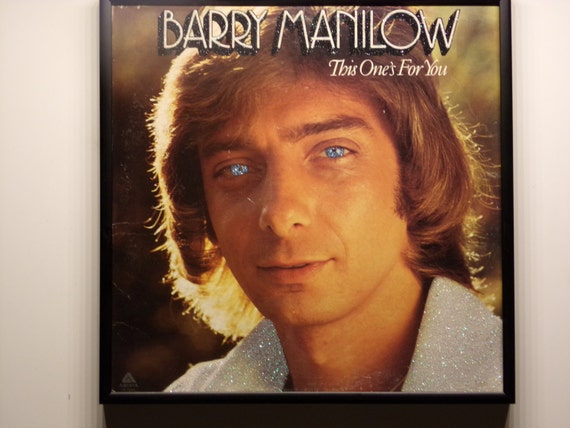 Glittered Record Album - Barry Manilow - This One's For You