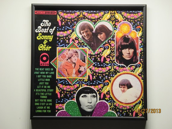 Glittered Record Album - Sonny and Cher - The Best Of Sonny and Cher