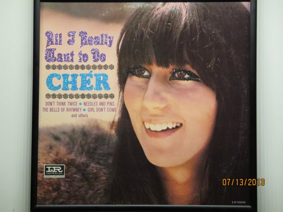 Glittered Record Album - Cher - All I Really Want To Do
