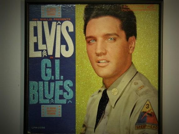 Glittered Record Album - Elvis