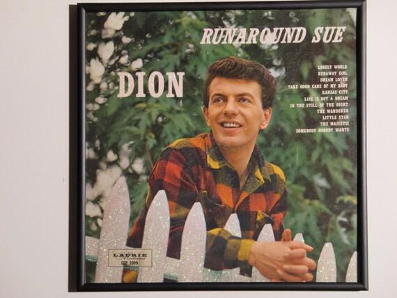 Glittered Record Album - Dion - Runaround Sue