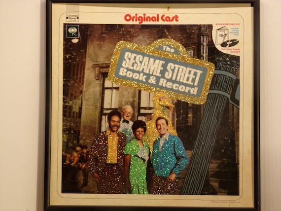 Glittered Record Album - The Sesame Street - Book and Record