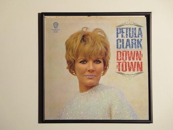 Glittered Record Album - Petula Clark - Down Town