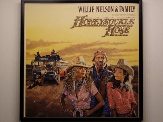 Glittered Record Album - Willie Nelson & Family - Honeysuckle Rose Soundtrack